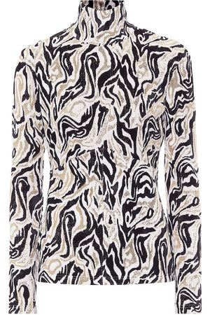 Paco rabanne Turtleneck printed sweater