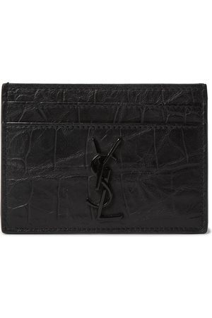 adidas Men Wallets - Logo-Appliquéd Croc-Effect Leather Wallet