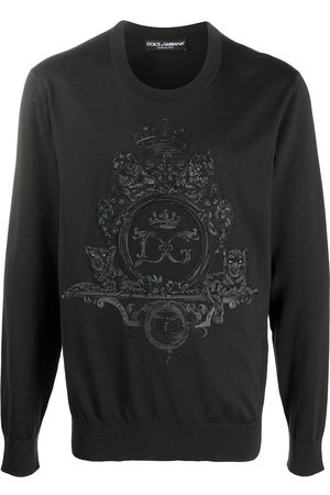 Dolce & Gabbana Embroidered wool-silk mix sweatshirt