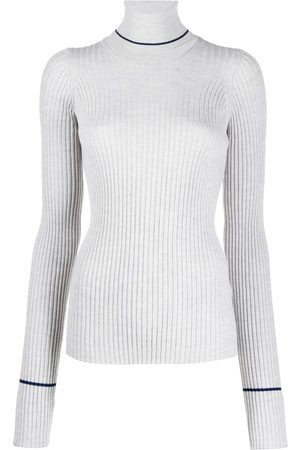 Maison Margiela Ribbed knitted roll neck top