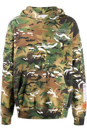 Heron Preston Camouflage cotton hoodie