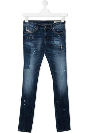 Diesel Girls Straight - Straight-leg washed jeans