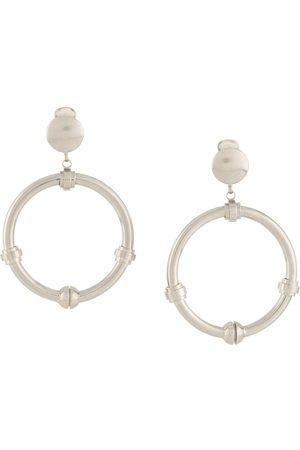 Gianfranco Ferré 2000s dangling hoop earrings