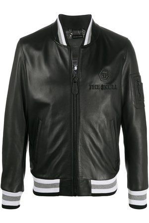Philipp Plein Outline skull bomber jacket