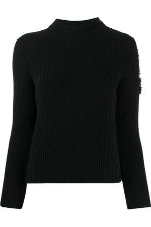 Patou Bead-embellished ribbed jumper