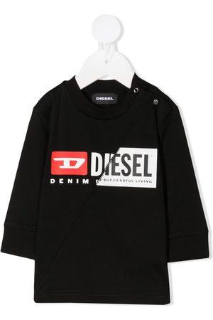 Diesel Kids Long-sleeved logo print jumper