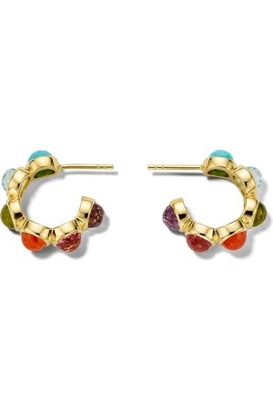 Ippolita 18kt Lollipop all-stone tiny hoop earrings