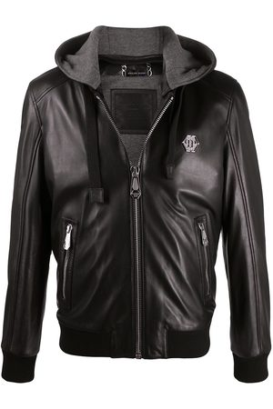 Philipp Plein Logo plaque bomber jacket