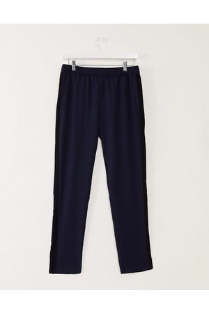 ASOS Slim striped trousers with side stripe