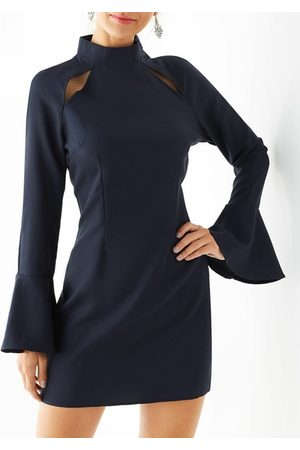 YOINS Cut Out Bell Sleeves Mini Dress