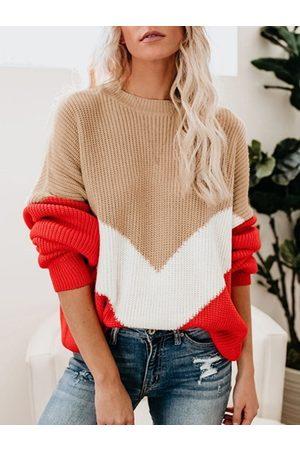 YOINS Round Neck Sweater