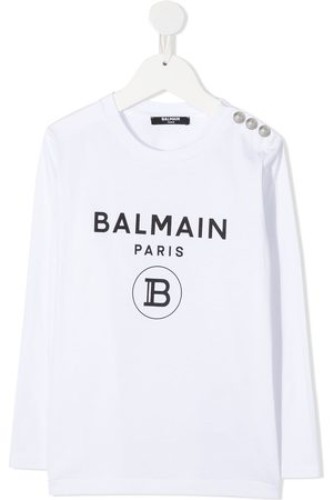Balmain Logo-print crew neck Tee