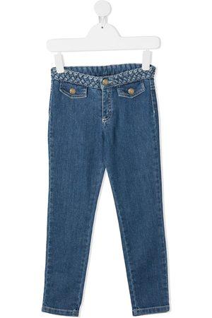 Chloé Braided waistband jeans
