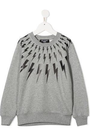 Neil Barrett Lightening print cotton sweatshirt