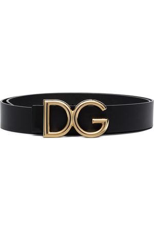 Dolce & Gabbana DG logo-plaque buckle belt