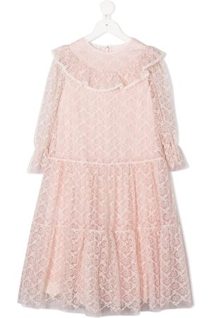 Gucci GG embroidered flared dress