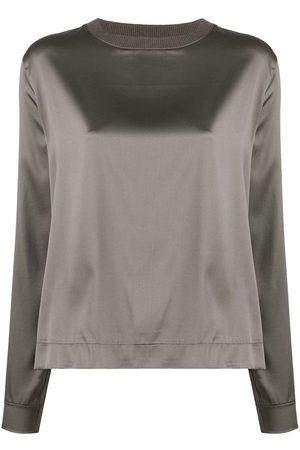 Fabiana Filippi Ribbed square neck blouse