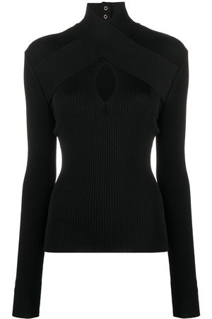 Msgm High neck knitted top