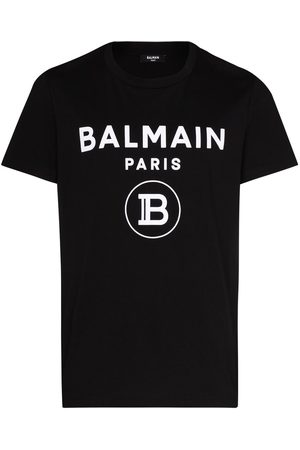Balmain Flock logo print cotton T-shirt