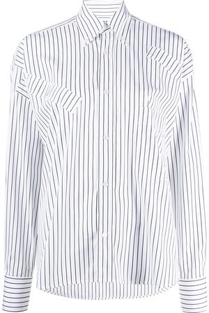 Plan C Striped long-sleeve shirt
