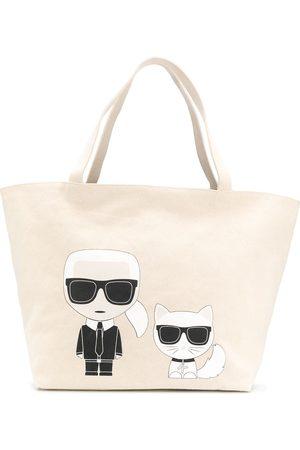 Karl Lagerfeld K/Ikonik Karl & Choupette tote