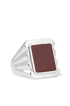 Bottega Veneta Sterling and Stone Signet Ring