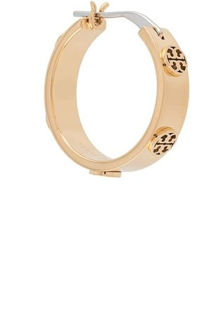 Tory Burch Miller stud huggie earrings