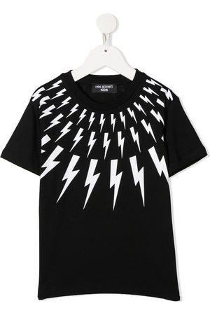 Neil Barrett Lightening print cotton T-shirt