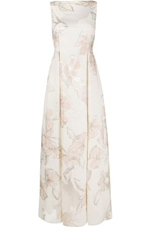 TALBOT RUNHOF Jacquard effect maxi dress