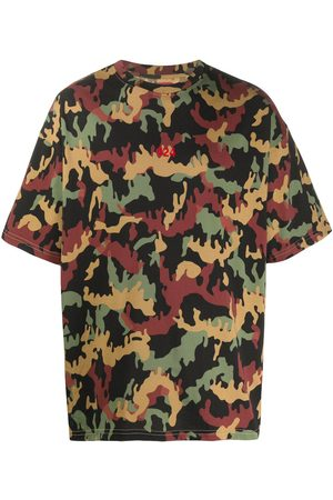 424 FAIRFAX Men Short Sleeve - Logo camouflage print T-shirt