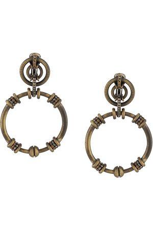 Gianfranco Ferré 1990s rhinestone-embellished dangling hoop earrings