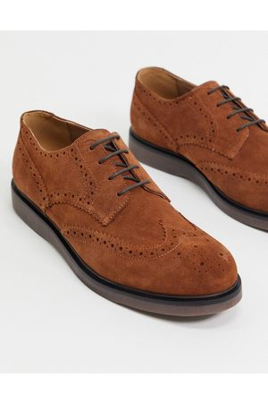 H by Hudson Calverston brogues in suede