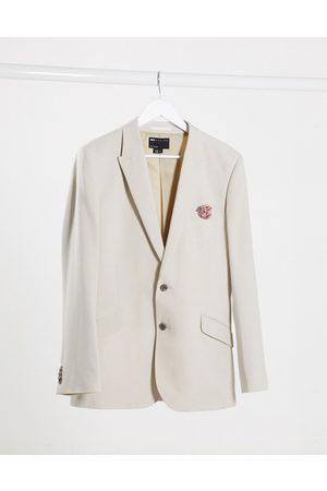 ASOS Wedding slim suit jacket in crosshatch