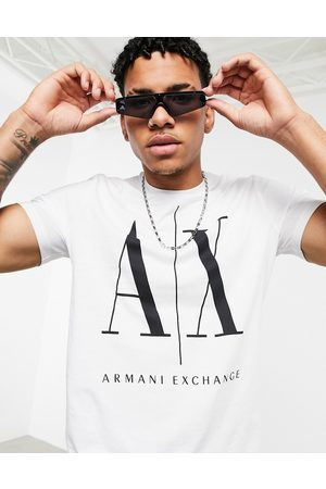 Armani AX Icon large logo t-shirt in