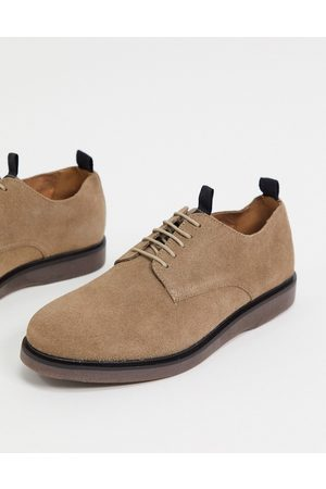 H by Hudson Barnstable lace up shoes in taupe suede