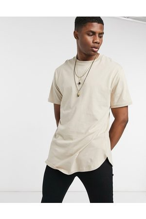 ASOS Relaxed fit longline t shirt with curved hem in