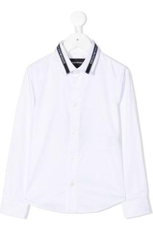 Emporio Armani Logo tape cotton shirt