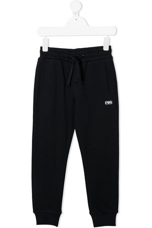 Emporio Armani Logo patch track pants