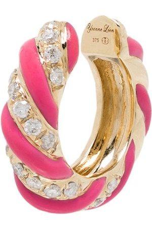 YVONNE LÉON 9kt Yellow Gold Torsade Diamond Ear Cuff