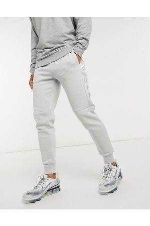 Nicce London Embroidered logo mercury joggers in stone