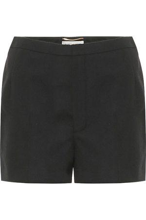 Saint Laurent High-rise virgin wool shorts