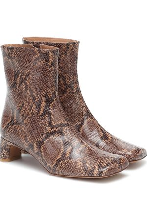 LOQ Monica snake-print leather boots