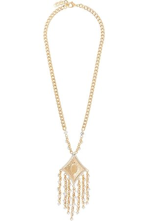 Alessandra Rich Crystal-fringed necklace