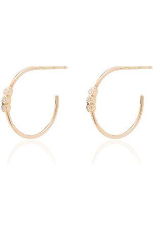 Zoe Chicco 14kt diamond hoop earrings
