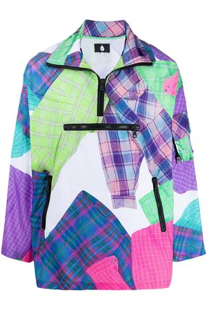 DUOltd Oversized patchwork print pullover jacket