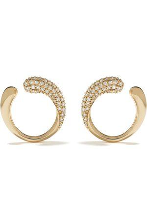 Georg Jensen 18kt yellow gold Mercy diamond earrings