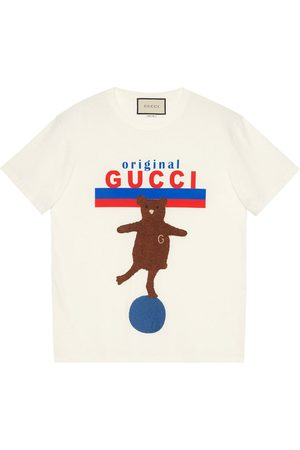 Gucci Original bear-patch oversize T-shirt