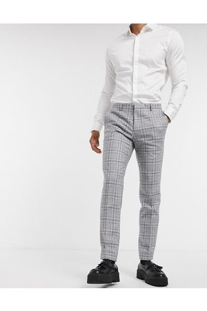 Shelby & Sons Slim suit trousers in and blue check