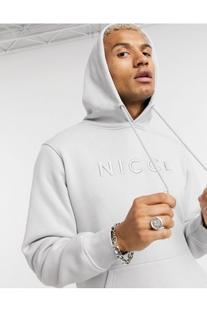Nicce London Embroidered logo mercury hoodie in stone