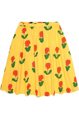 Mini Rodini Violas cotton-jersey skirt